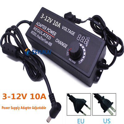 Power Supply Adapter Adjustable Ac To Dc3-12v 10a Converter Adapter Switching
