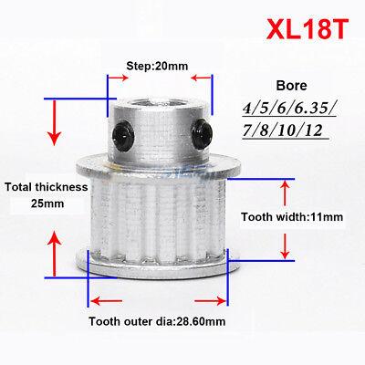 5M 10T Timing Belt Pulley Gear Sprocket 5//6//6.35//7mm Bore For 15//20mm Width Belt