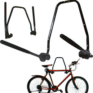 2-BIKE-WALL-MOUNTED-BICYCLE-HANGER-CYCLE-STORAGE-MOUNT-HOOK-HOLDER-STAND-RACK