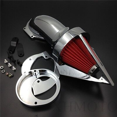 X. Triangle Air Cleaner Kits intake filter Chrome for Yamaha Vstar 650 1986-2012