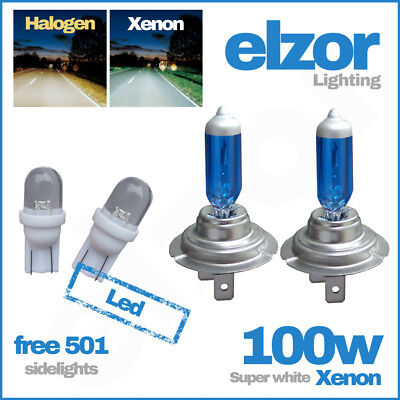2 X H7 499  477 100w Xenon Super White Headlight Bulbs Dipped Main Beam 12v 501