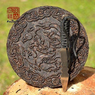 Tea Knife + 3.53 oz Dragon Chen Cha Da Hong Pao Cake Chinese Oolong Tea