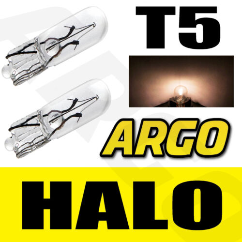 T5 286 CLEAR GLASS DASHBOARD LIGHT BULBS HALOGEN 12V LAMP DIALS WEDGE CAR