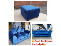🚛FREE DELIVERY🚛 BRAND NEW 3+2 PLUSH VELVET SOFA SET WITH FREE MATCHING FOOTSTOOL INCLUDED✅