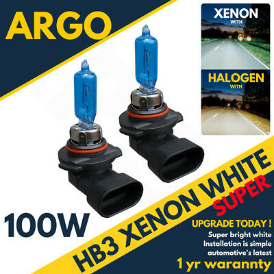 Hb3 100w 9005 8500k Super White Xenon Hid Headlight Spot Drl Fog Light Bulbs