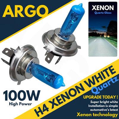 2 H4 Ultra Power Bright 8500k Xenon Gas White Car Front Headlight Headlamp Bulbs