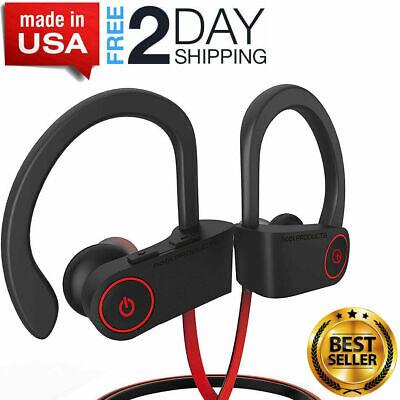 Best Waterproof IPX7 Bluetooth Headphones Earbuds Sports Wireless Beats NEW USA!
