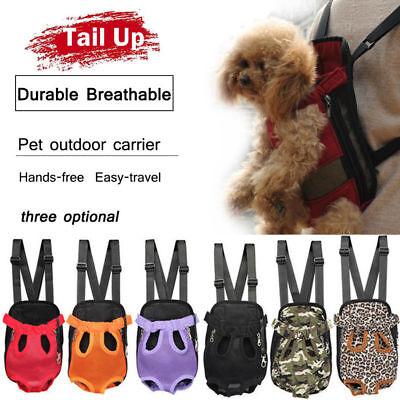 Nylon Mesh Pet Puppy Dog Cat Carrier Backpack Front Net Bag Tote Sling -