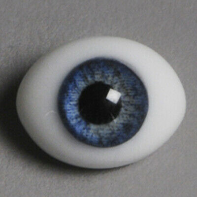 Dollmore BJD OOAK 6mm Classic Flat Back Oval Glass Eyes CC05