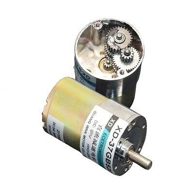 1pcs Dc12v24v 10w 5-600rpm 37gb520 New Micro Cwccw Geared Motor Copper Coil