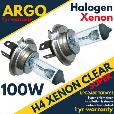 H4 SUPER CLEAR VISION XENON HALOGEN BULB 100 WATT 50