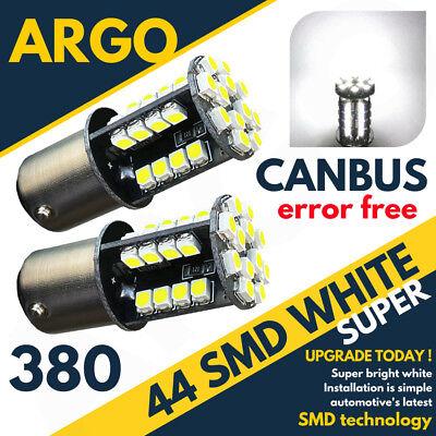2 X 44 Led White Stop Tail Brake Light Bulbs Error Free 380 1157 Bay15d 12v for sale  Wolverhampton