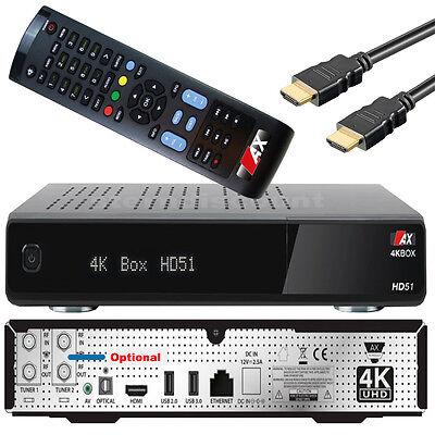 AX 4K BOX HD51 4K Sat Receiver E2 DVB-S2 UHD 2160p H.265 HEVC Linux IPTV OpenATV online kaufen