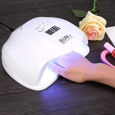 Uv Auto Gel Lamp (SUNX 54W UV LED Nail Lamp Dryer Gel Polish Curing Light Manicure Auto Sensing)