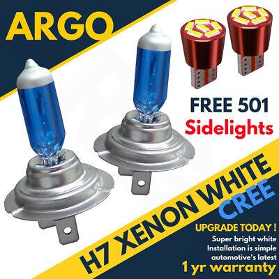 H7 499 55w Xenon Super Power White Headlight Bulbs Dipped Main Beam 12v 501 Led