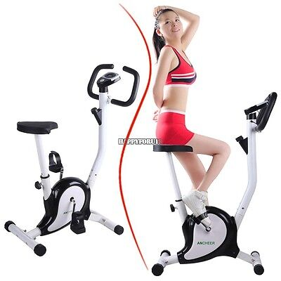 Upright Exercise Bike Indoor Cardio Workout Stationary Cycle Magnetic Resistance