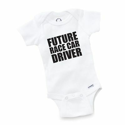 Race Car Baby Shower (Future Race Car Driver Onesie Baby Clothing Shower Gift Geek Funny Cute Gift)