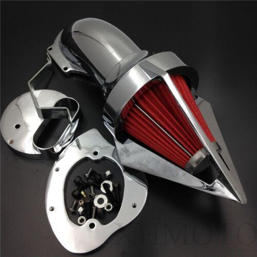 For Yamaha V-Star 1100 Dragstar XVS1100 1999-2012 CHROME Cone Spike Air Cleaner