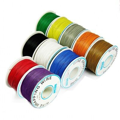 1 Roll 30awg 0.2mm Single Core Copper Tinned Pcb Jumper Wrapping Wire Welding