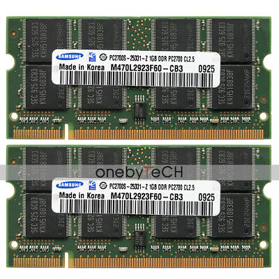 - 2GB 2x1GB PC2700 DDR1 333 200pin SODIMM Memory For Apple Mac PowerBook G4 1.5GHz