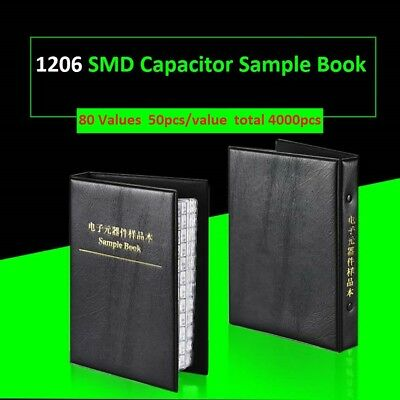 1206 Smdsmt Components Samples Book Capacitor Assorted Kit 80 Values -4000pcs