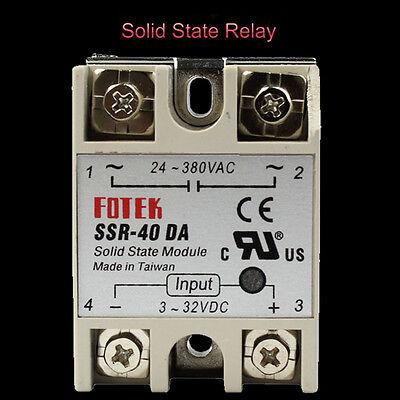 Fotek Control Solid State Relay Module Ssr-40da 40a 24-380v Ac 3-32v Dc Input