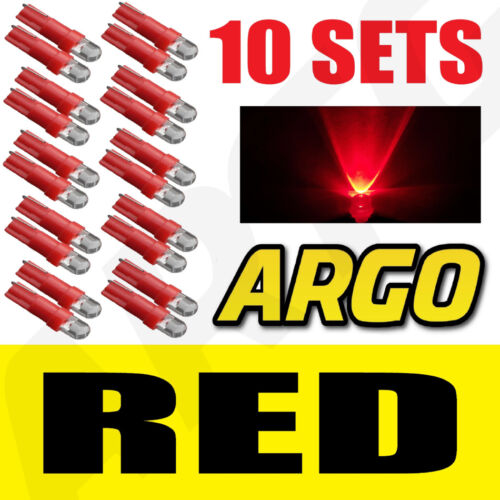 10 X SETS T5 286 LED ULTRA RED DASHBOARD LIGHT BULBS XENON 12V LAMP DIALS CAR