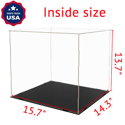 US Acrylic Plastic Display Box 40cm Large Case Self-Install