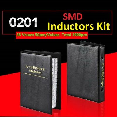 0201 Smdsmt Lqp Components Samples Book Inductors Assorted Kit 38 Values