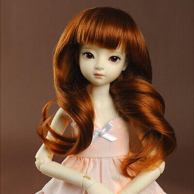 Straight 1//4 BJD MSD Wig 18-20 cm 7-8 inch Bangs Blonde DM