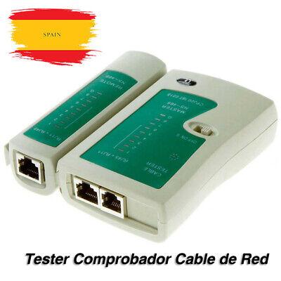 Tester Comprobador Cable de Red ethernet LAN RJ45 RJ11 RJ12 Cat5e Cat6...