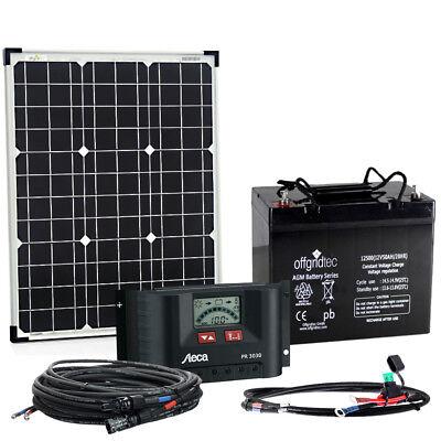 Offgridtec BIG S 50W 50Ah 12V kleine Solaranlage Gartenhaus Schrebergarten Solar