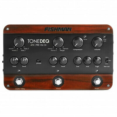 Fishman ToneDEQ AFX Acoustic Guitar Preamp/EQ/DI Dual Effect Pedal NEW