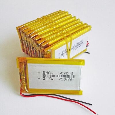 Lion Pda (10pcs 3.7V 750mAh Lipo Polymer Battery Lion For DVD GPS PDA mobile phone 503048)