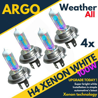4 X H4 472 Xenon Super White Rainbow Main Beam Headlight Headlamp Light Bulbs