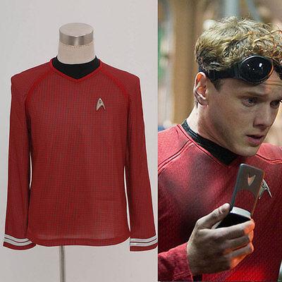 Star Trek Into Darkness Star Command Team Herren Hemd Rot Shirt Cosplay Top Neu (Ness Kostüm Shirt)
