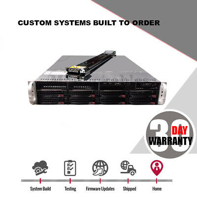 2U Server 8 Bay X8DTI-F Freenas JBOD SAS2 2x Intel Xeon Low Power 9210-8i HBA