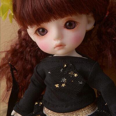 "Dollmore White 13/"" 35cm bjd clothes Narsha Cute Bear Hood T"