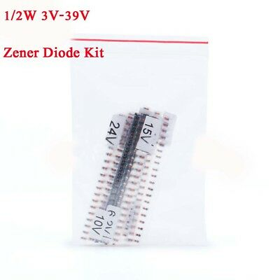 280pcs 14 Values 12w 0.5w 3v-39v Ll34 1206 Smd Zmm Zener Diode Assortment Kit