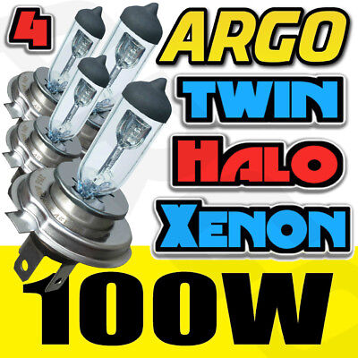 H4 472 SUPER 100W CLEAR GLASS HALOGEN DIPPED LOW BEAM HID HEADLIGHT BULBS 12V