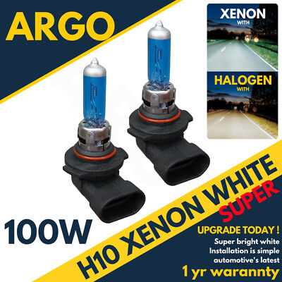 H10 100w 8500k Xenon 710 Fog Super White Effect Headlight Lamps Light Bulbs