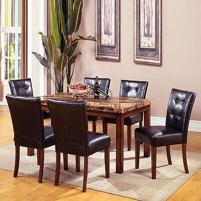 Dark Oak Dining Room (Dining Set in Dark Oak Dining Room Furniture Set Dining Table w/ 6 Side Chairs )