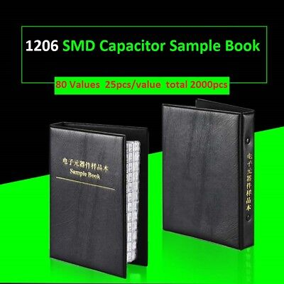 1206 Smdsmt Capacitors Components Samples Book Capacitor Assorted Kit 80 Values