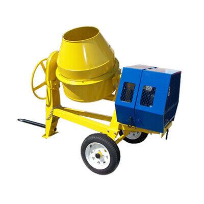 13 Hp Towable 9 Cf Cubic Cement Mixer 12v Electric Gasoline 55 Mph Concrete