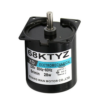 68ktyz Synchronous Motor Ac220v 28w 2.5-110rpm Permanent Magnet Gearmotor Cwccw