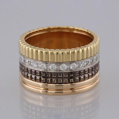 Boucheron Quatre Classique Large Ring 18ct Gold Size L