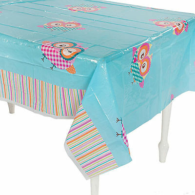 2 Gingham OWL tablecloths TABLE COVER Girl's plastic Birthday Party DECORATIONS](Blue Gingham Plastic Tablecloth)