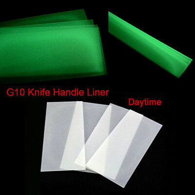 2pcs G10 Knife Handle Liner Blade Fluorescent Effect Spacer Material DIY Making, used for sale  Shipping to Canada