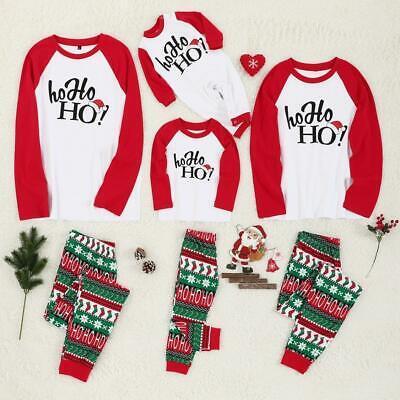 Family Christmas Pajamas Set Pjs Matching Pyjamas Adult Kids Xmas Sleepwear
