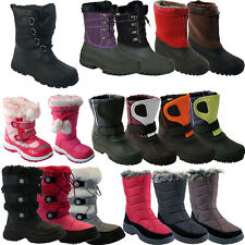 **  MENS LADIES KIDS SNOW BOOTS WATERPROOF THERMAL WELLINGTONS FUR WINTER WOMENS